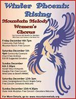 Mountain Melody's Winter 2015 Poster, Winter Phoenix Rising