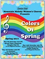 Colors of Spring, Mountain Melody's Spring 2017 poster