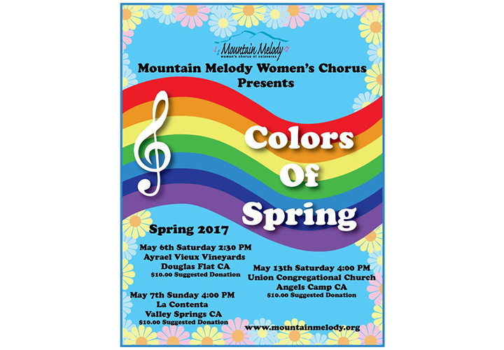 Colors of Spring, Mountain Melody's 2017 Poster