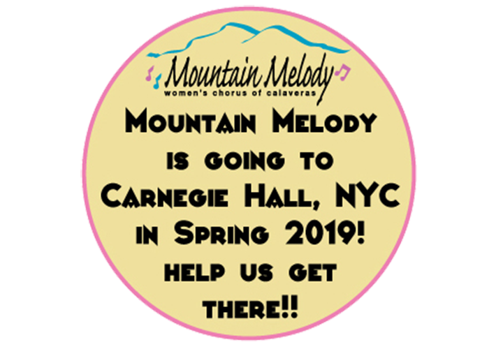 Mountain Melody is going to Carnegie Hall, NYC in Spring 2019! Help us get there!!