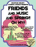 Friends and Music and Spring– Oh My!! Spring 2018 Poster