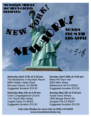 Mountain Melody's Spring Concert Series: New York, New York!!!