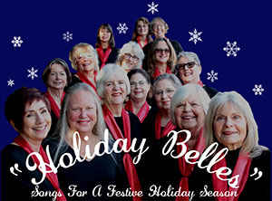 Holiday Belles: Songs for a Festive Holiday Season and a group photo of Mountain Melody members